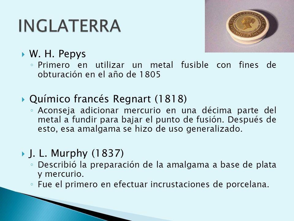 INGLATERRA W. H. Pepys Químico francés Regnart (1818)