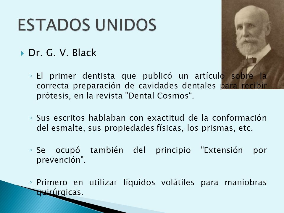 ESTADOS UNIDOS Dr. G. V. Black