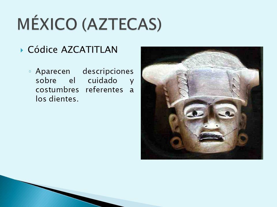 MÉXICO (AZTECAS) Códice AZCATITLAN