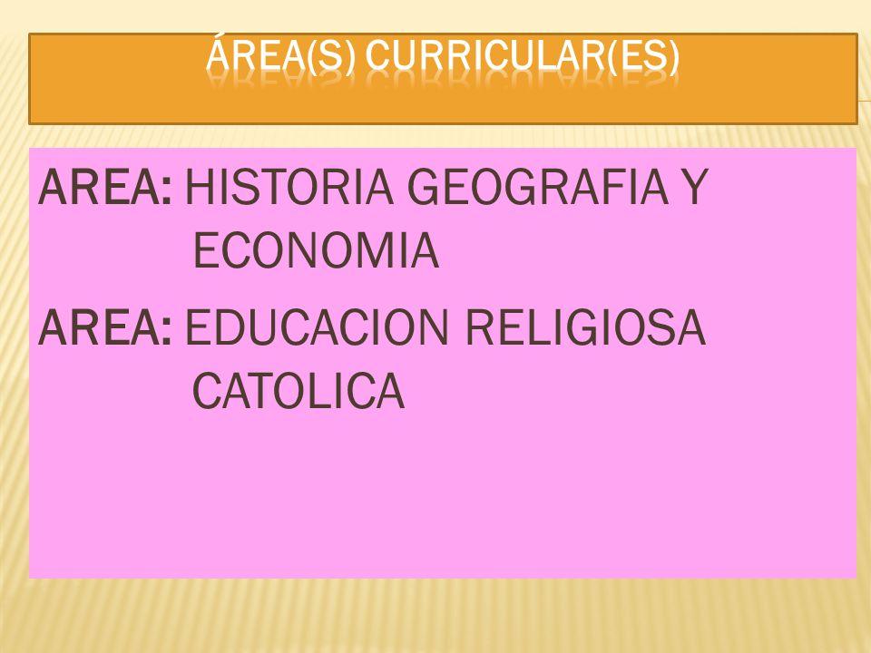 Área(s) curricular(es)