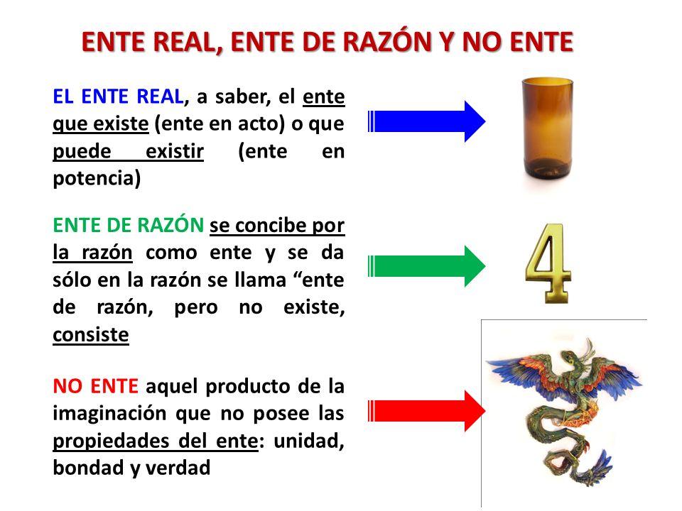 ENTE REAL, ENTE DE RAZÓN Y NO ENTE