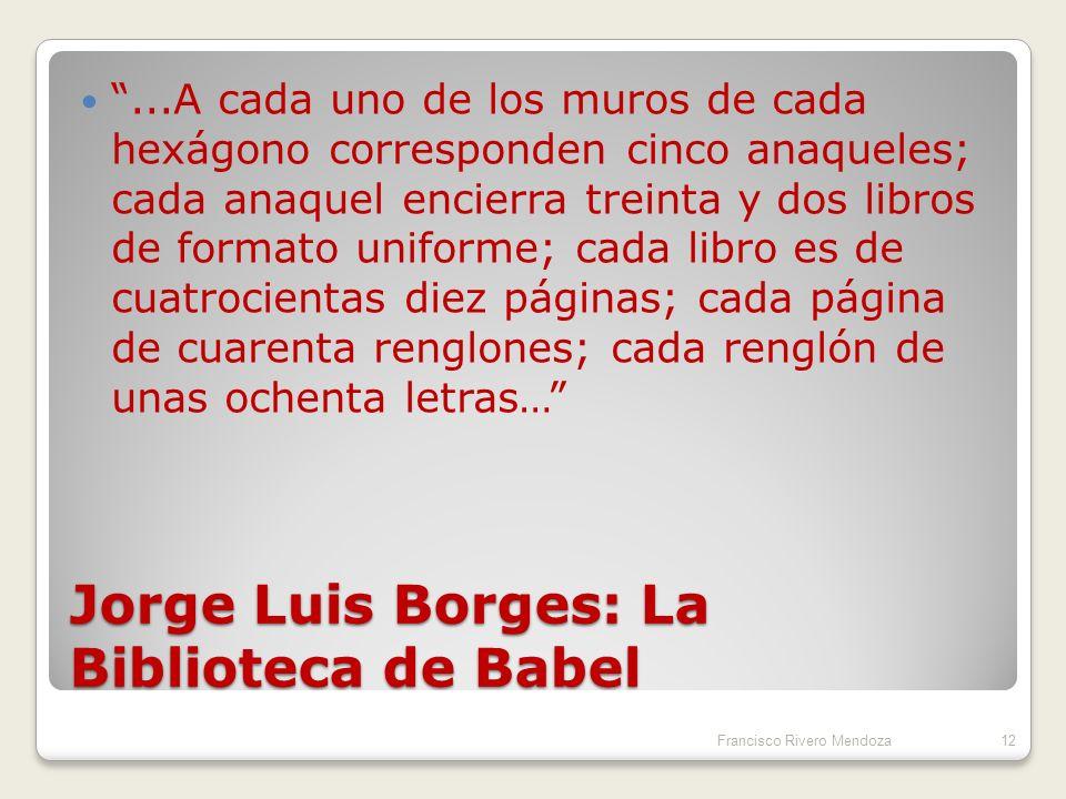 Jorge Luis Borges: La Biblioteca de Babel
