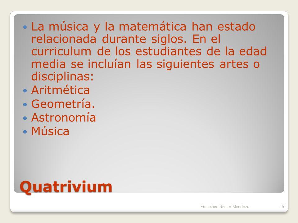 La música y la matemática han estado relacionada durante siglos