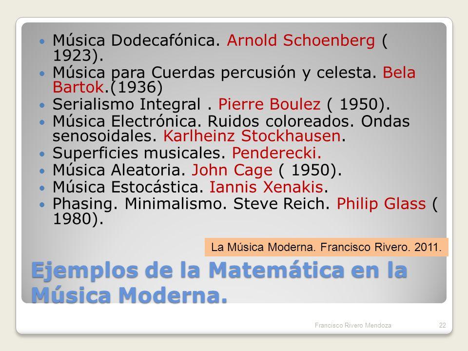 Ejemplos de la Matemática en la Música Moderna.