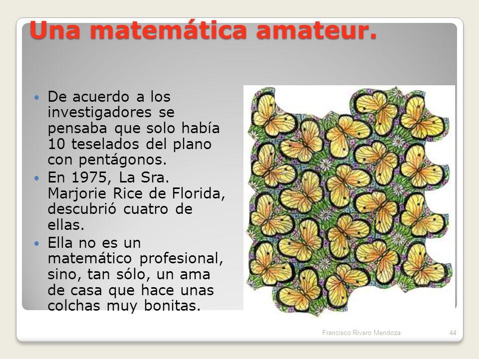 Una matemática amateur.
