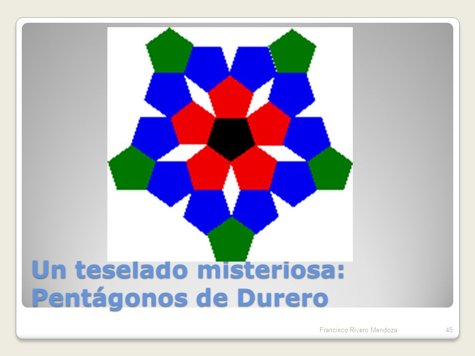 Un teselado misteriosa: Pentágonos de Durero