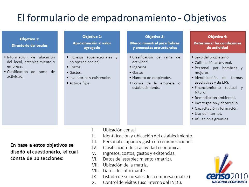 El formulario de empadronamiento - Objetivos
