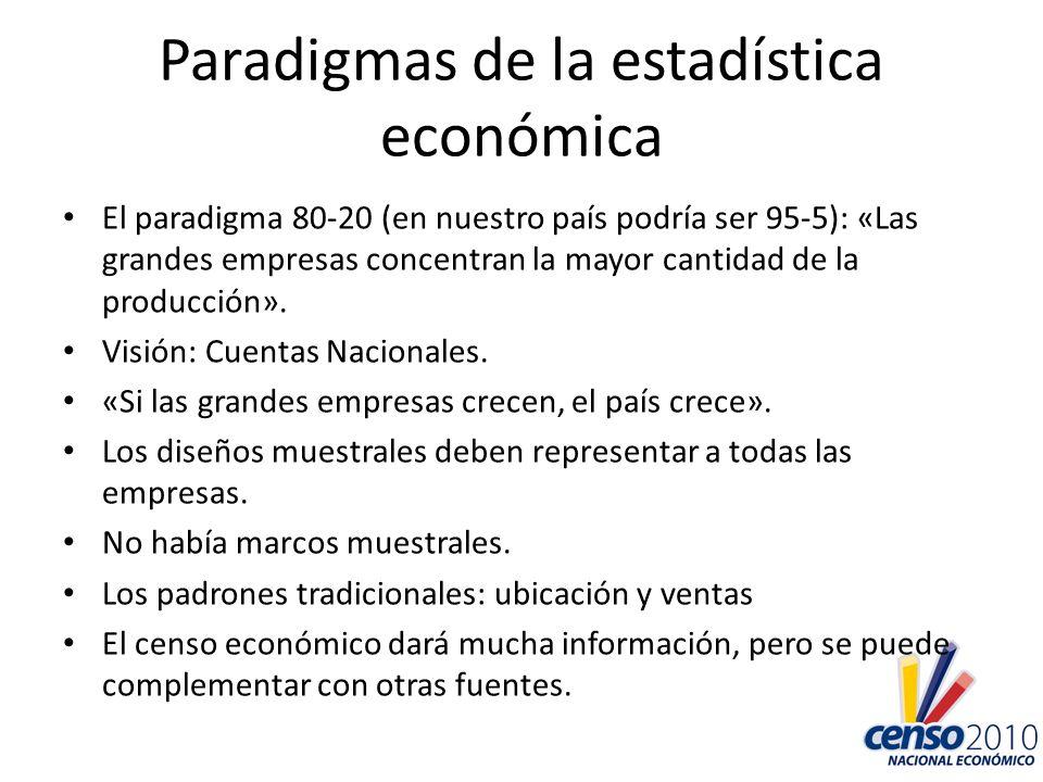 Paradigmas de la estadística económica