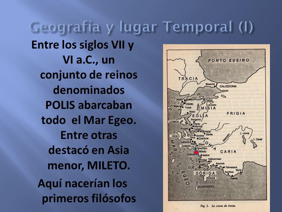 Geografía y lugar Temporal (I)