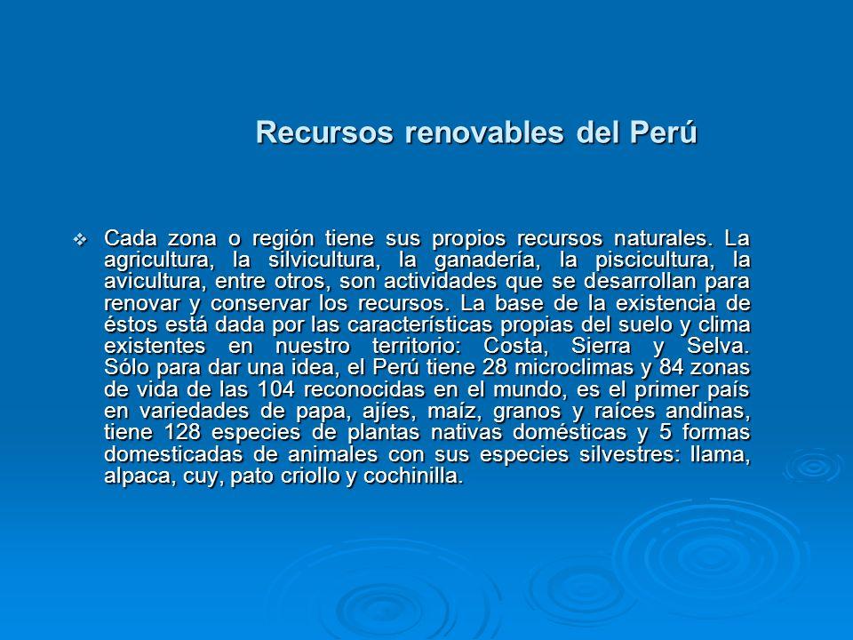 Recursos renovables del Perú