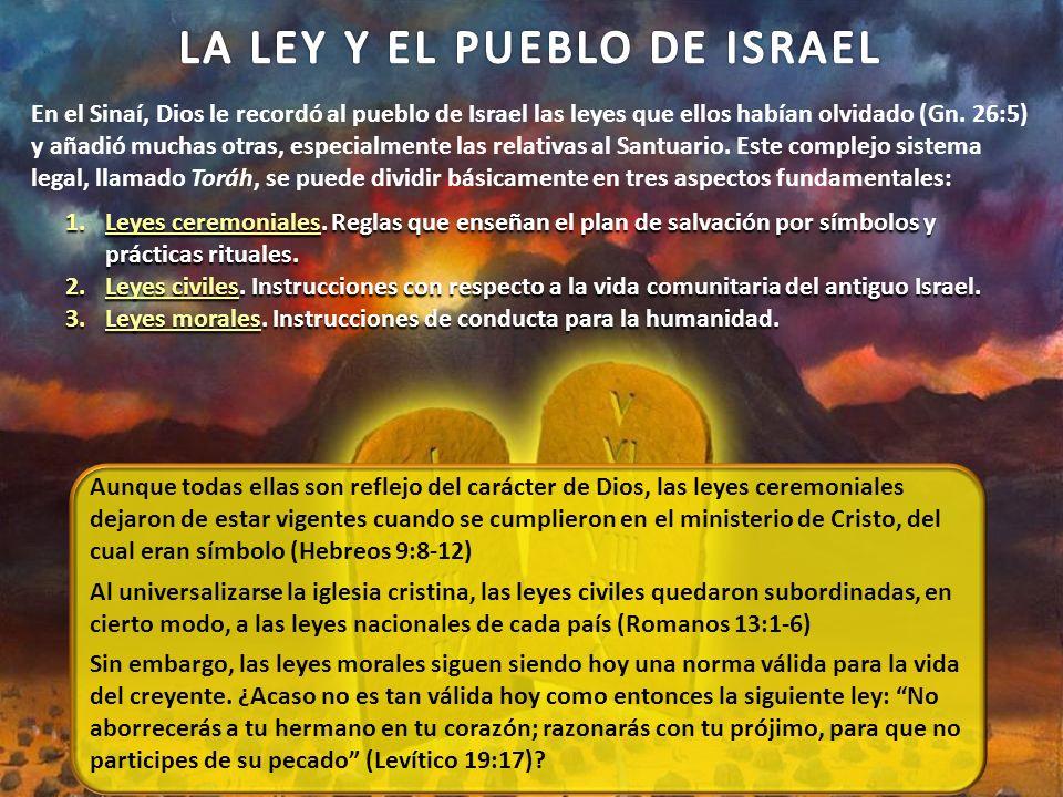 LA LEY Y EL PUEBLO DE ISRAEL
