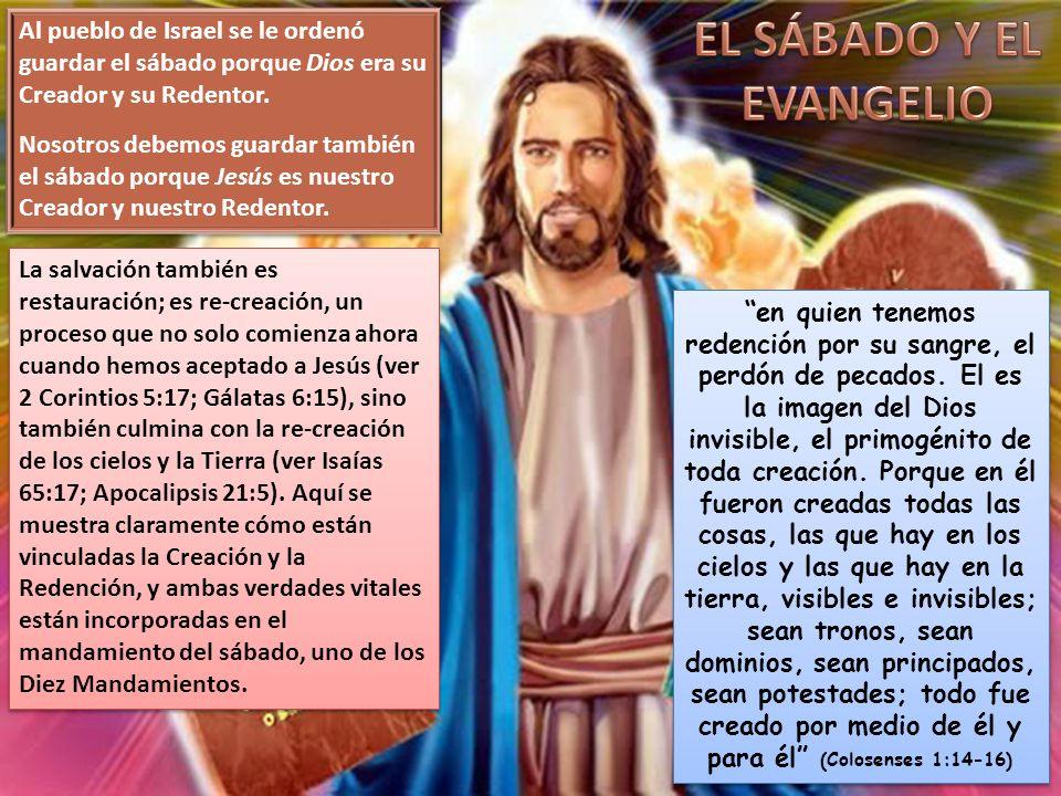 EL SÁBADO Y EL EVANGELIO