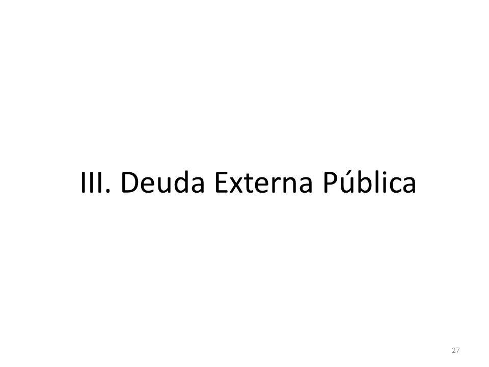 III. Deuda Externa Pública