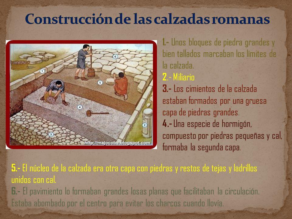 Construcción de las calzadas romanas