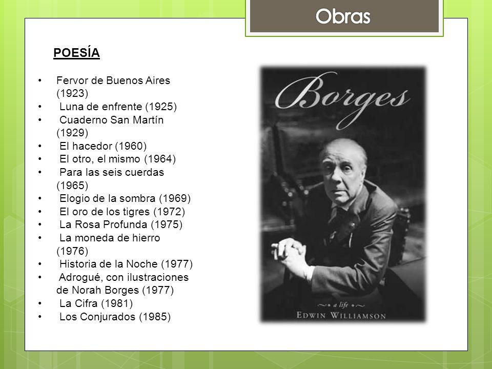Obras POESÍA Fervor de Buenos Aires (1923) Luna de enfrente (1925)