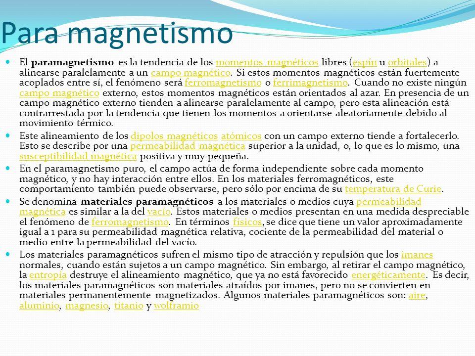 Para magnetismo