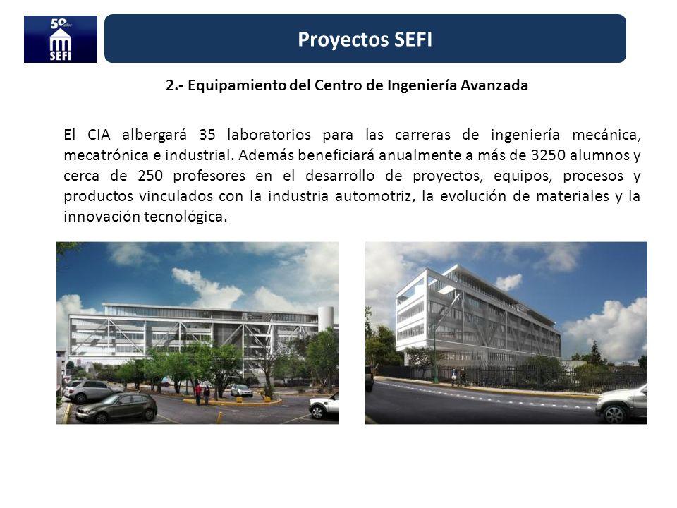 2.- Equipamiento del Centro de Ingeniería Avanzada