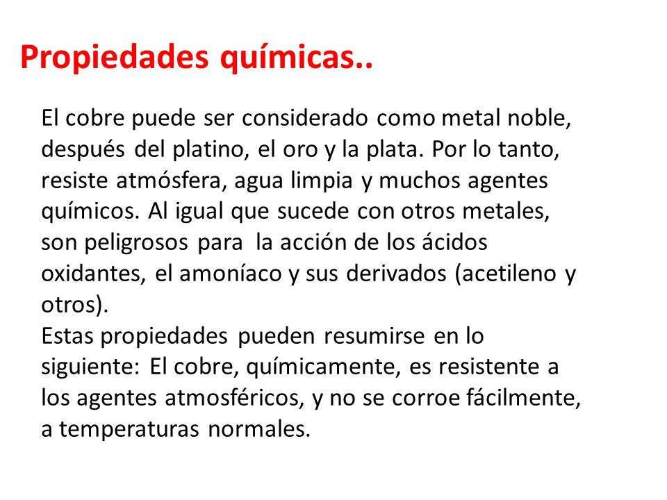 Propiedades químicas..