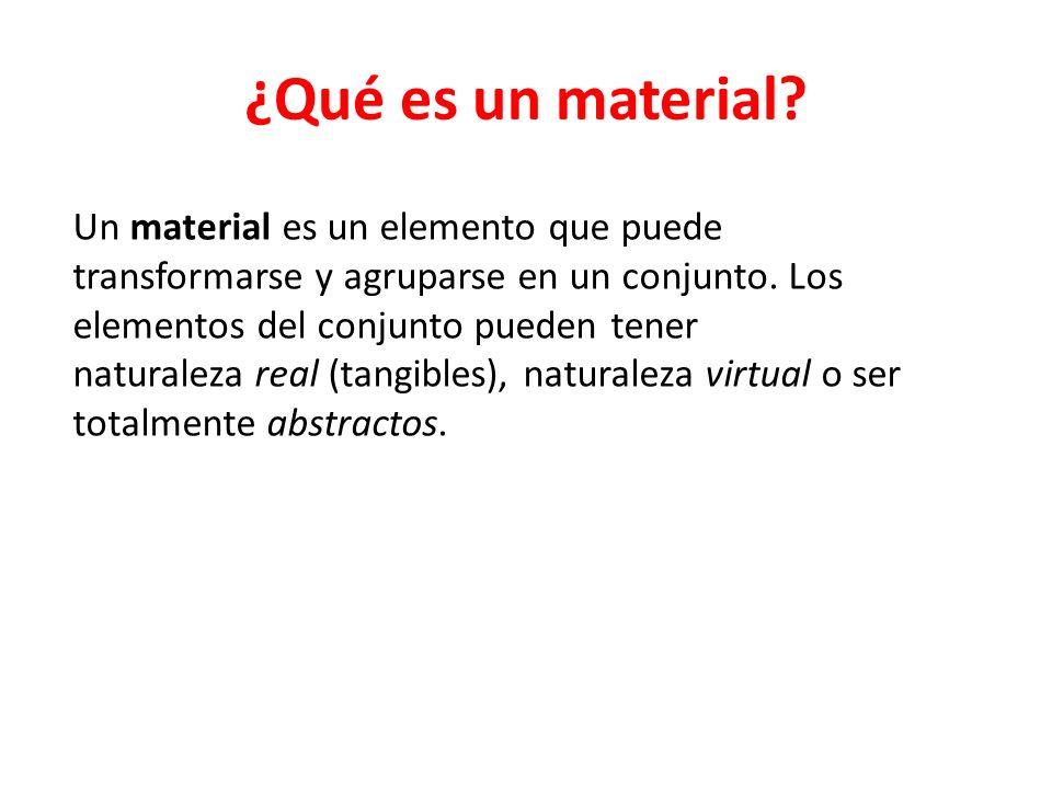 ¿Qué es un material