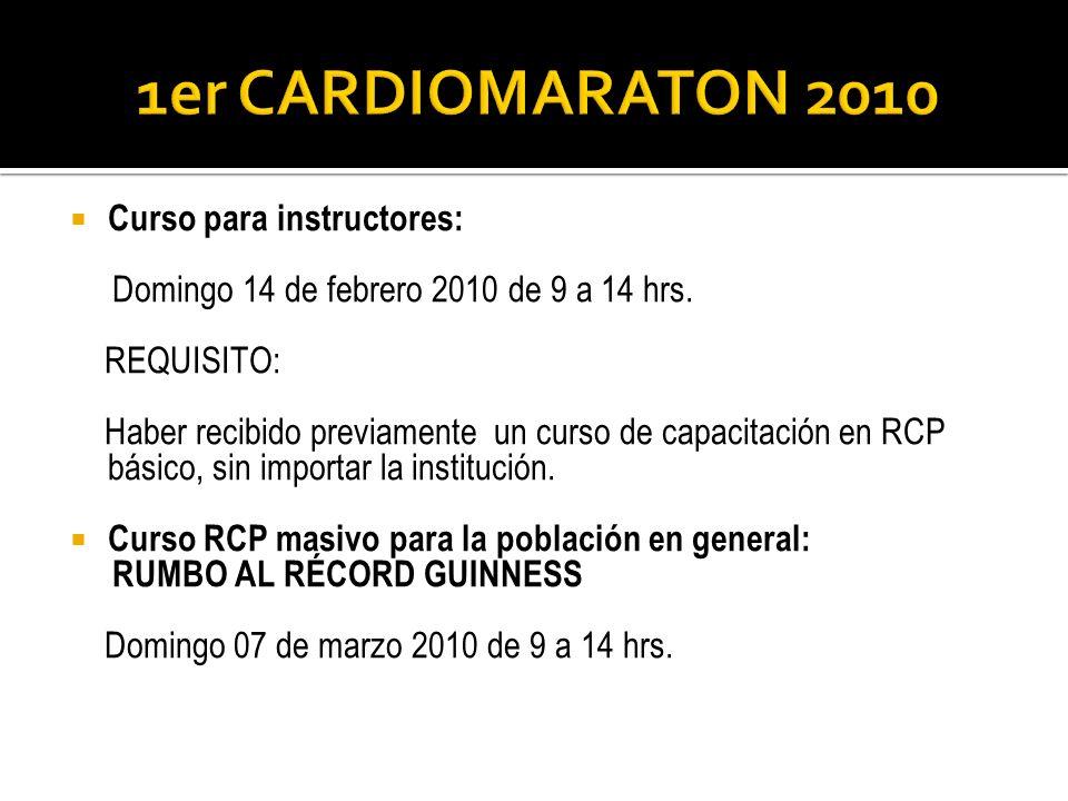 1er CARDIOMARATON 2010 Curso para instructores: