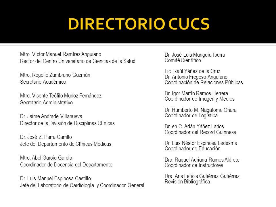 DIRECTORIO CUCS Mtro. Víctor Manuel Ramírez Anguiano