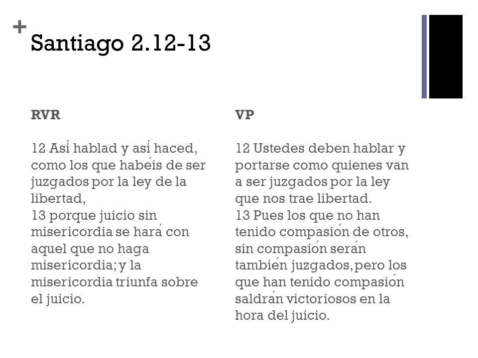 Santiago 2.12-13