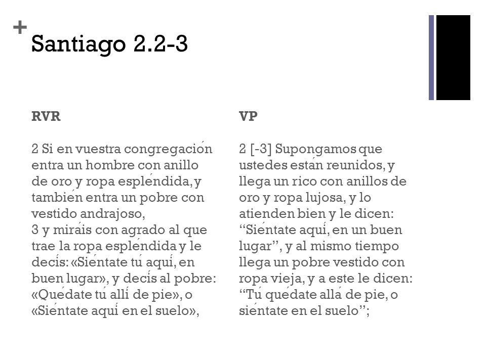 Santiago 2.2-3