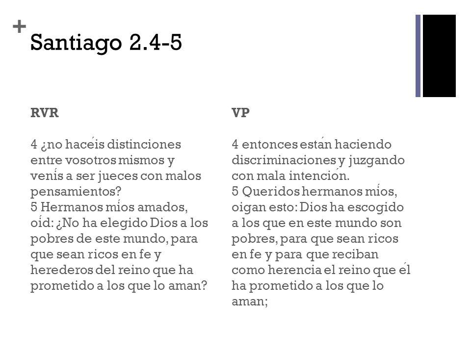 Santiago 2.4-5