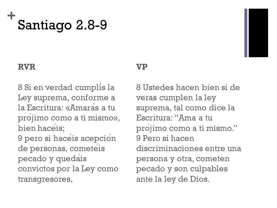 Santiago 2.8-9