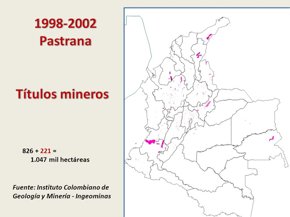 1998-2002 Pastrana Títulos mineros