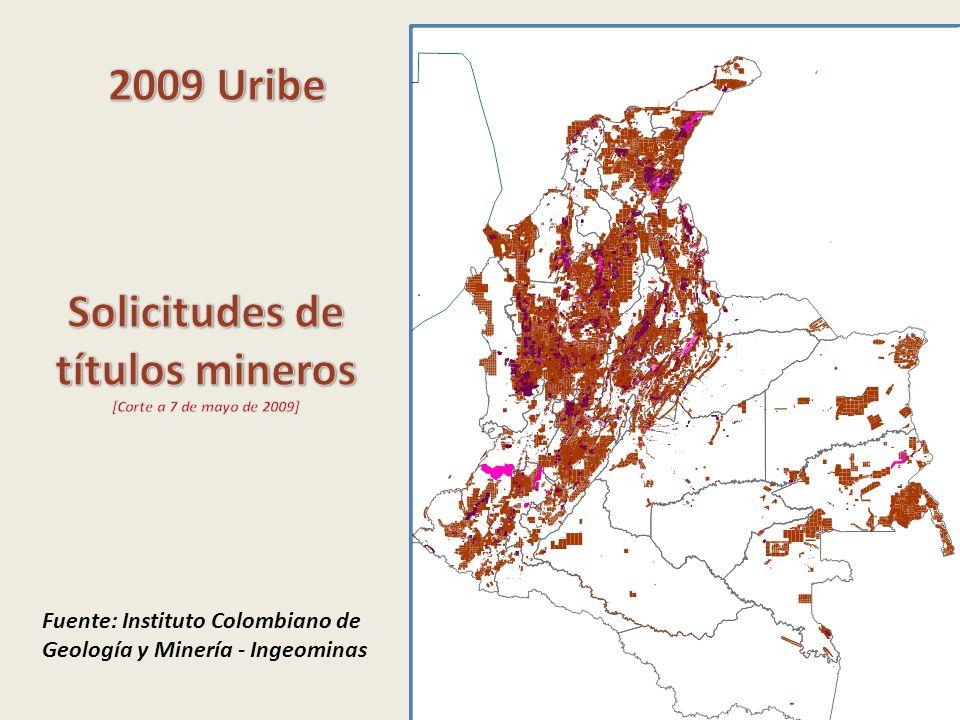 Solicitudes de títulos mineros
