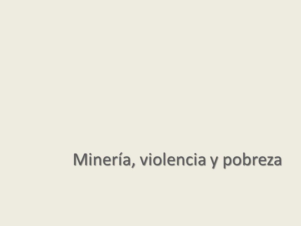 Minería, violencia y pobreza