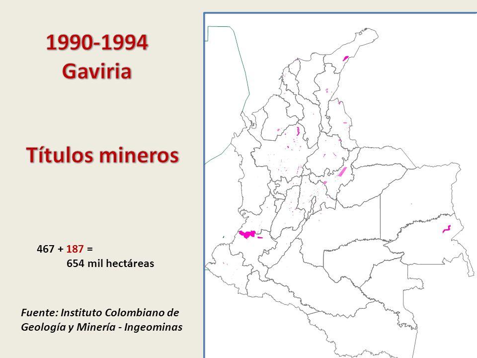 1990-1994 Gaviria Títulos mineros