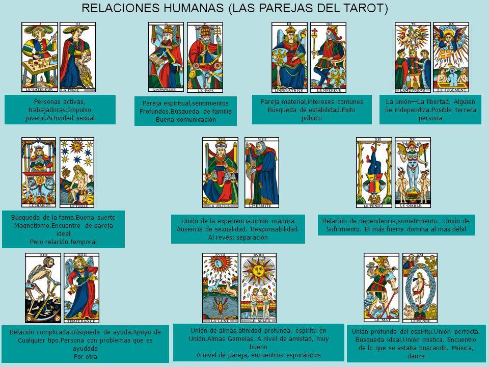 RELACIONES HUMANAS (LAS PAREJAS DEL TAROT)