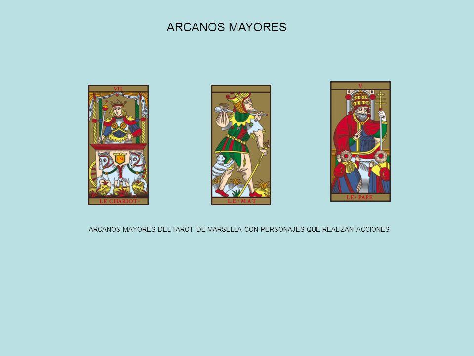 ARCANOS MAYORES ARCANOS MAYORES DEL TAROT DE MARSELLA CON PERSONAJES QUE REALIZAN ACCIONES