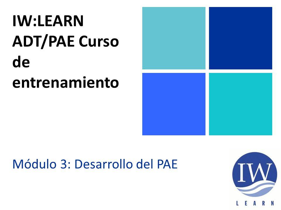 IW:LEARN ADT/PAE Curso de entrenamiento