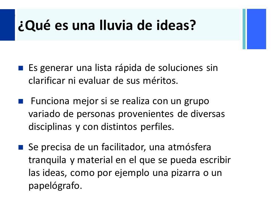 ¿Qué es una lluvia de ideas