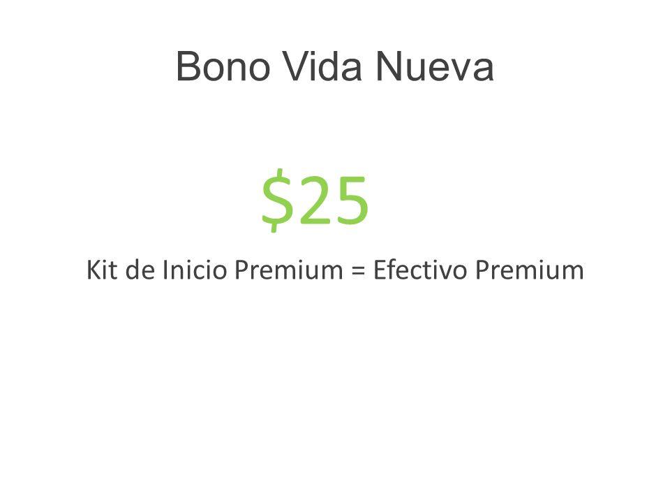 Kit de Inicio Premium = Efectivo Premium