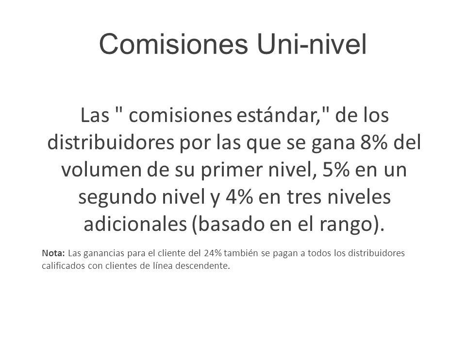 Comisiones Uni-nivel