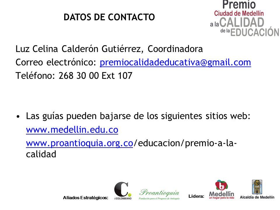 Luz Celina Calderón Gutiérrez, Coordinadora