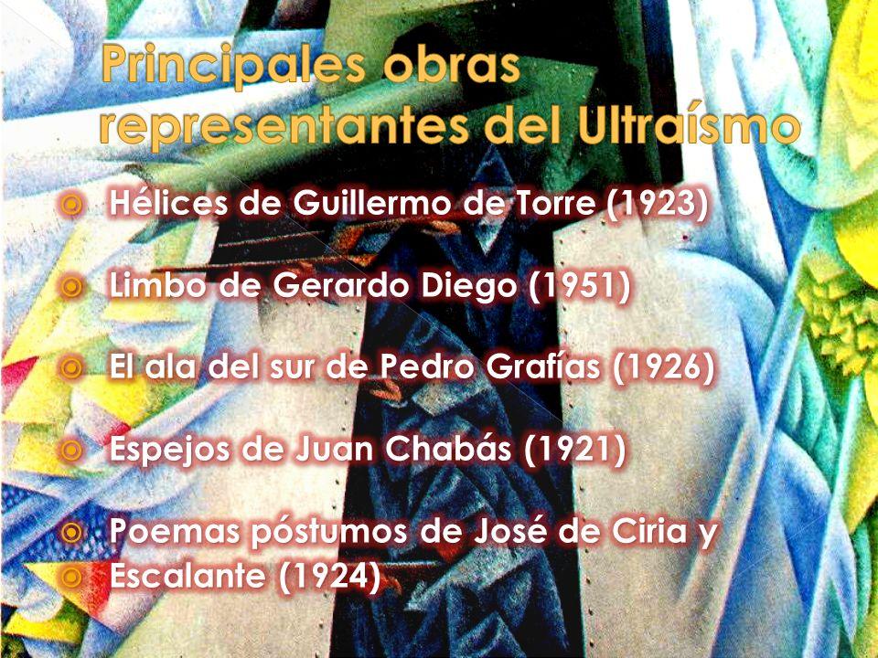 Principales obras representantes del Ultraísmo