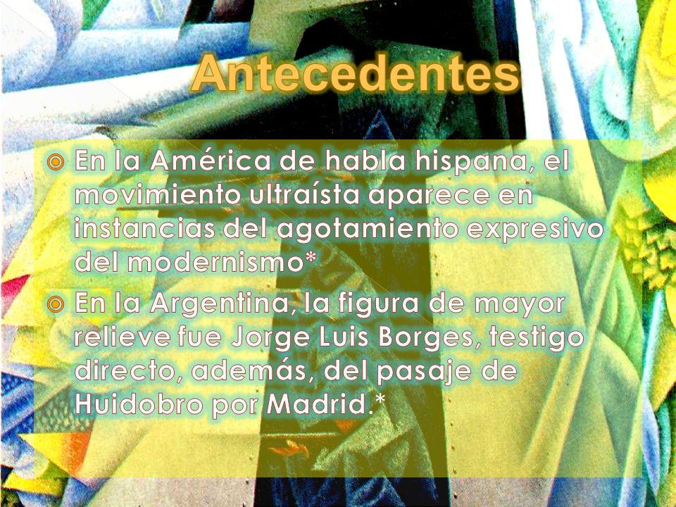 Antecedentes En la América de habla hispana, el movimiento ultraísta aparece en instancias del agotamiento expresivo del modernismo*
