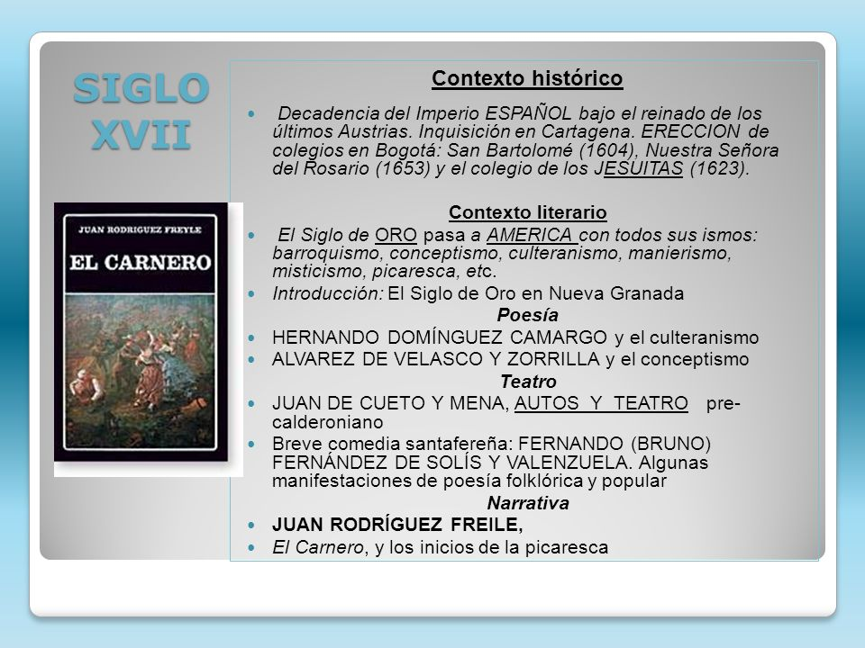 SIGLO XVII Contexto histórico