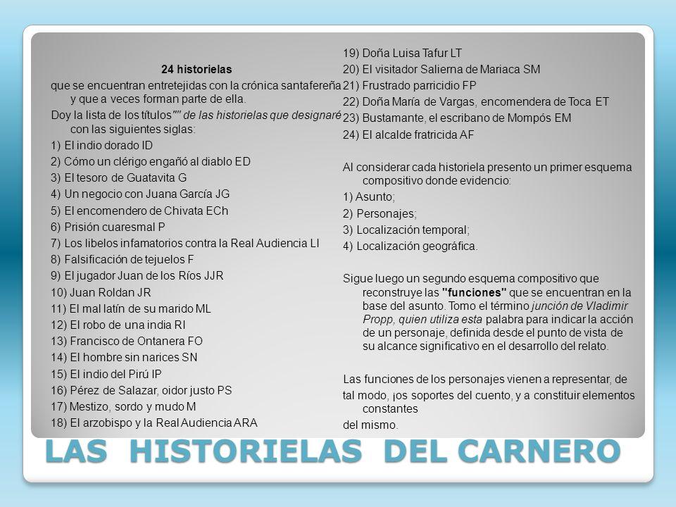 LAS HISTORIELAS DEL CARNERO