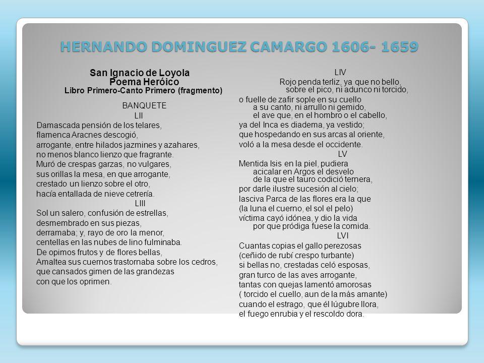 HERNANDO DOMINGUEZ CAMARGO 1606- 1659