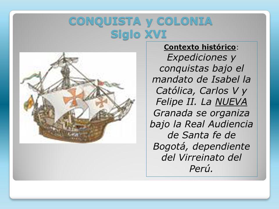 CONQUISTA y COLONIA Siglo XVI