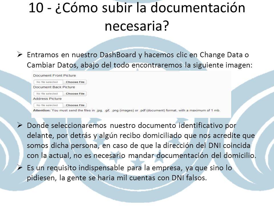 10 - ¿Cómo subir la documentación necesaria