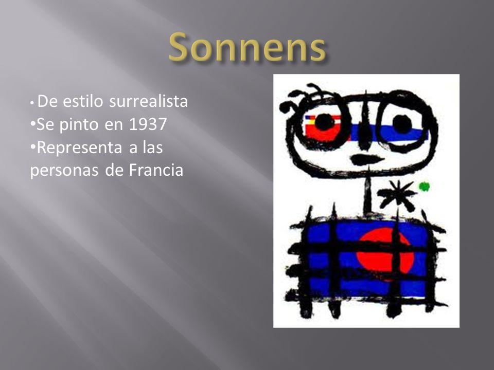 Sonnens Se pinto en 1937 Representa a las personas de Francia