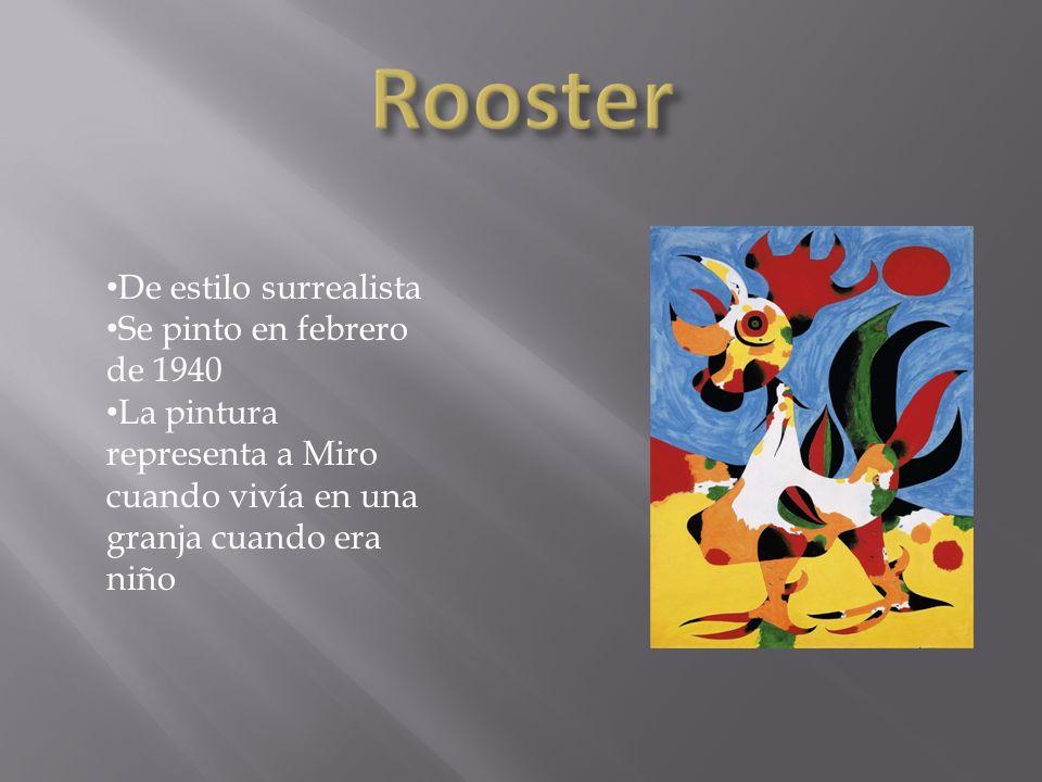Rooster De estilo surrealista Se pinto en febrero de 1940