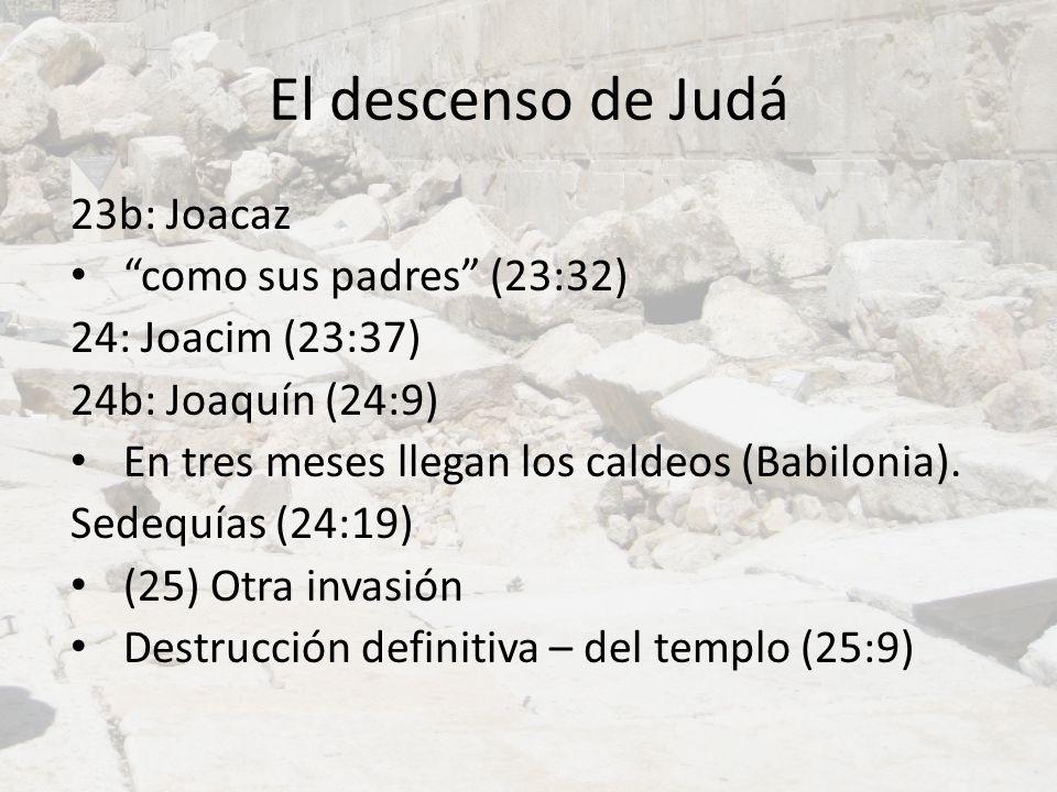 El descenso de Judá 23b: Joacaz como sus padres (23:32)